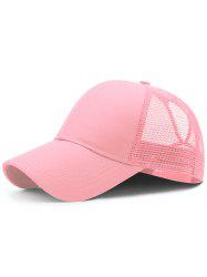 Lightweight Solid Color Mesh Graphic Hat -