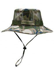 Camouflage Pattern Mesh Fisherman Hat -