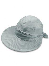 Outdoor Removable Top Cover Folding Wide Brim Sunscreen Hat -
