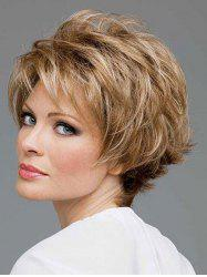 Short Side Bang Colormix Natural Straight Synthetic Wig -