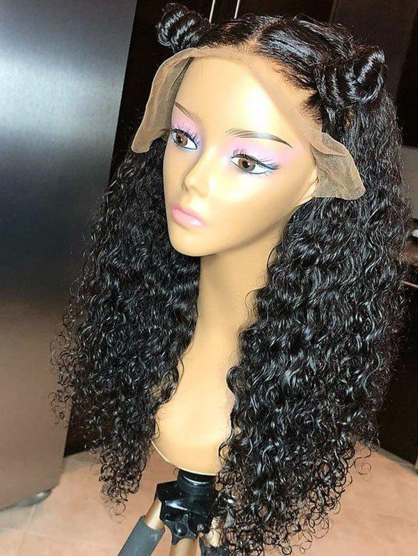 Outfits Long Center Parting Curly Synthetic Lace Front Wig