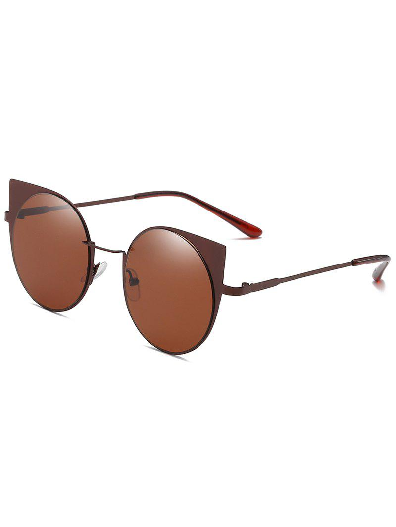 Outfit Anti Fatigue Metal Full Frame Catty Round Sunglasses