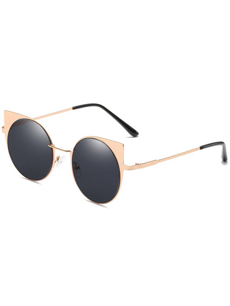 Fashion Anti Fatigue Metal Full Frame Catty Round Sunglasses