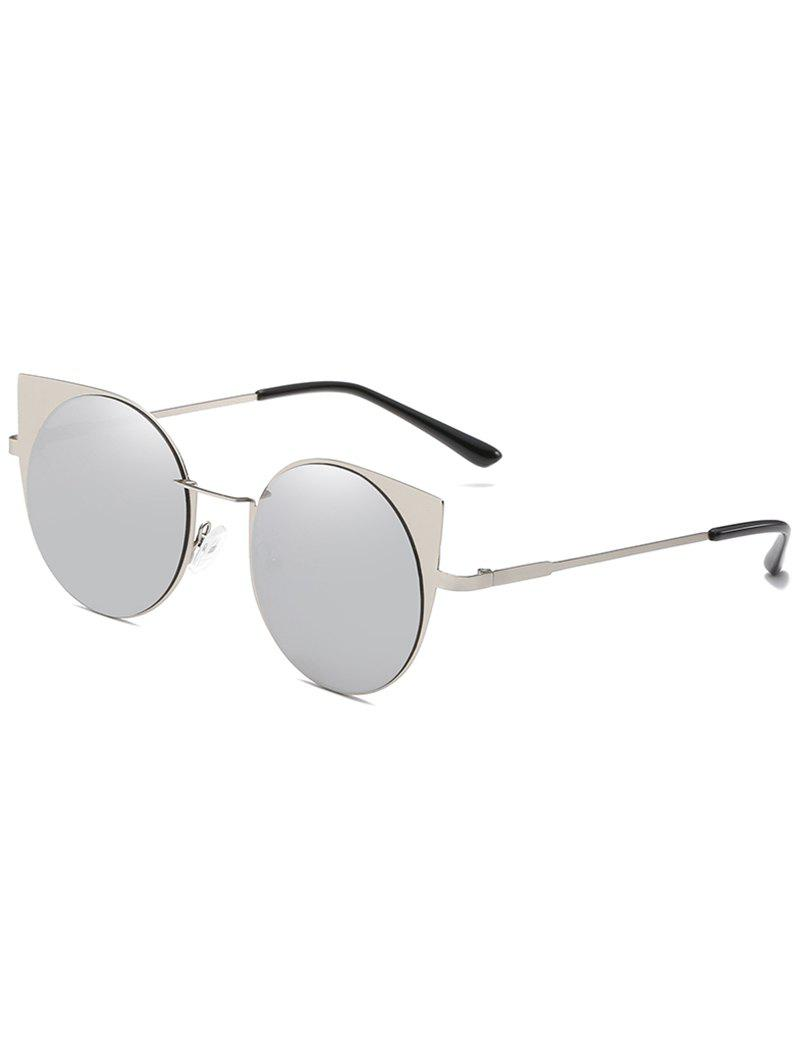 Outfits Anti Fatigue Metal Full Frame Catty Round Sunglasses