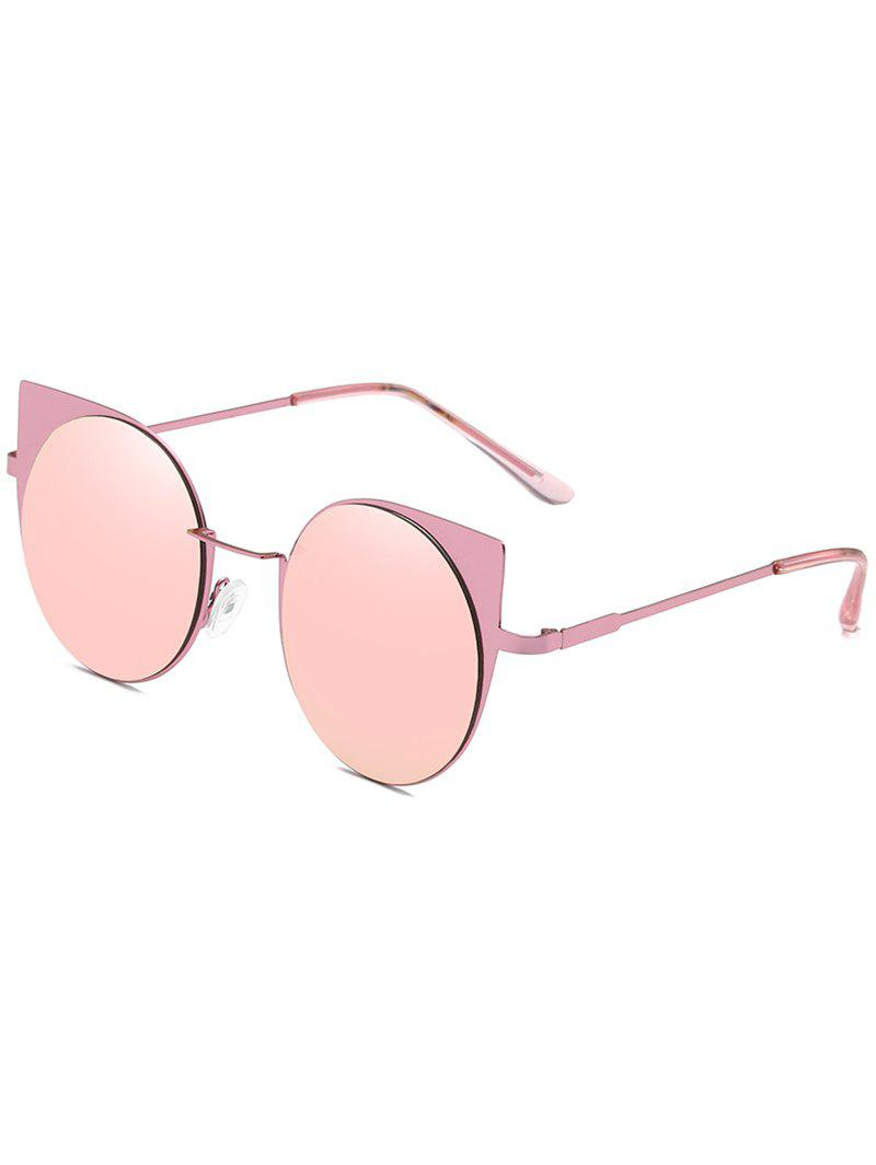 Online Anti Fatigue Metal Full Frame Catty Round Sunglasses