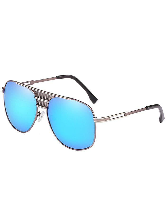 Chic Anti Fatigue Metal Full Frame Crossbar Pilot Sunglasses