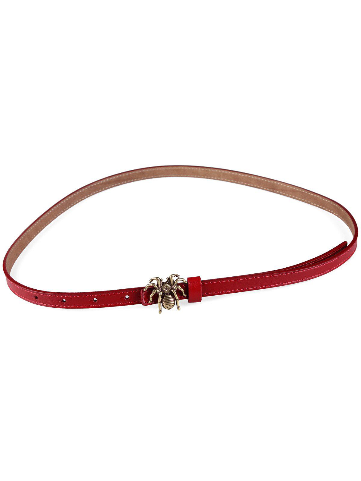 Best Unique Spider Buckle Faux Leather Skinny Belt