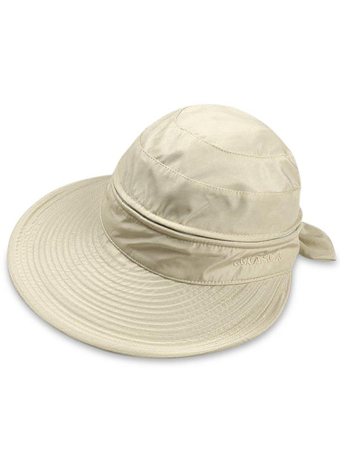 Fashion Outdoor Removable Top Cover Folding Wide Brim Sunscreen Hat