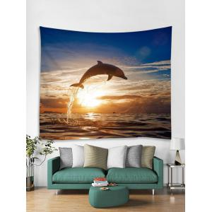 Ocean Dolphin Print Wall Decor Tapestry -