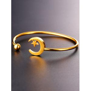 Moon Embrace Star Alloy Cuff Bracelet -