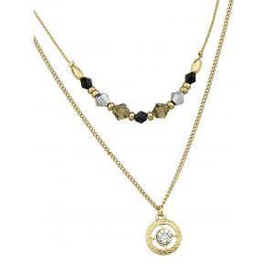 Layered Charm Pendant Necklace -