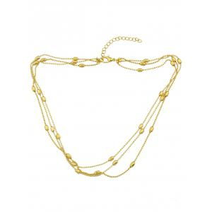 Beads Alloy Layered Necklace -