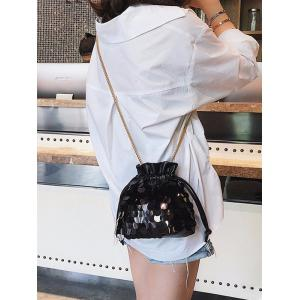 Fish Scale Sequins Bucket Bag -