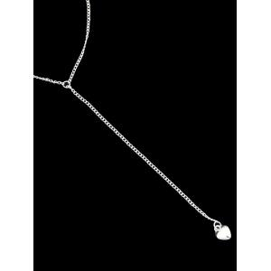 Double Layered Chain Pendant Necklace -