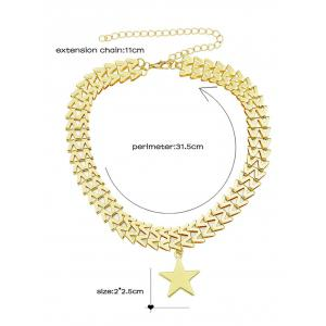 Star Pendant Charm Necklace -