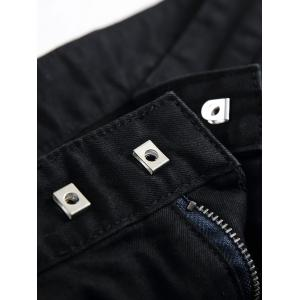 Side Zip Hem Pocket Design Moto Shorts -