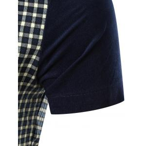 Pocket Design Plaid Panel Shirt -