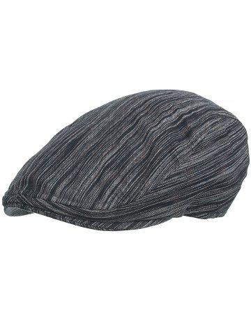 Store Lightweight Striped Pattern Cabbie Hat