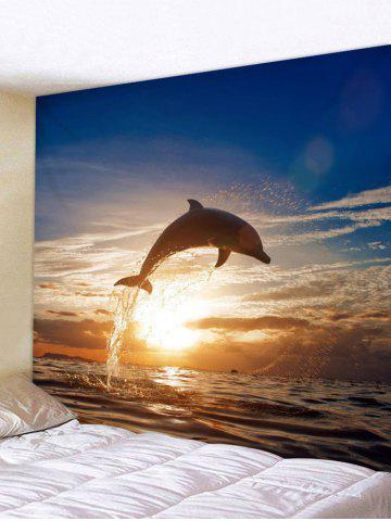 New Ocean Dolphin Print Wall Decor Tapestry