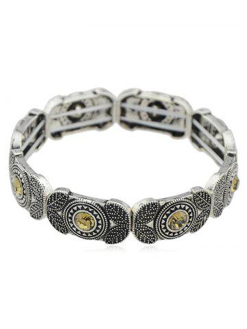 Hot Rhinestoned Alloy Elastic Bracelet