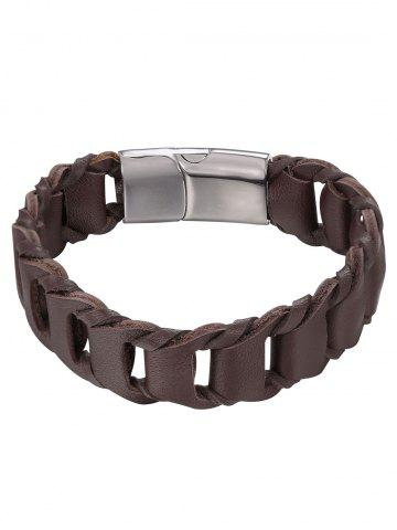 Affordable PU Leather Weaving Style Bracelet