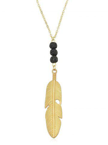 Outfit Feather Pendant Link Chain Charm Necklace