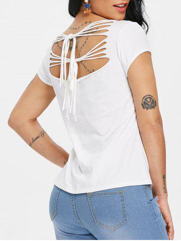 Online Ripped Butterfly Print Graphic Tee