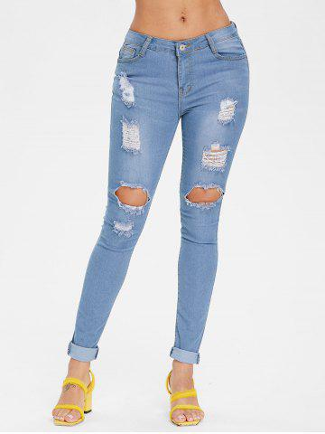 Online Skinny Ripped Jeans