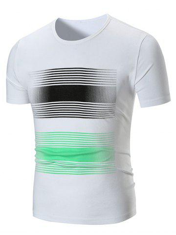 Affordable Stripe Print Short Sleeve T-shirt