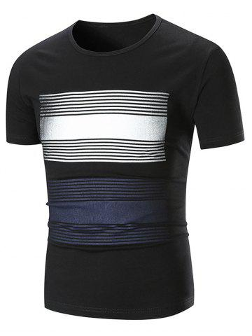 Shops Stripe Print Short Sleeve T-shirt