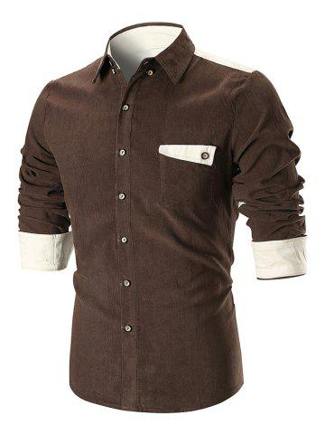 Online Pocket Panel Design Long Sleeve Shirt