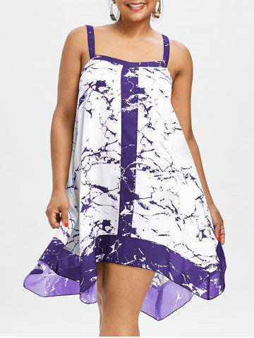 Shops Plus Size Sleeveless Marble Print Dress