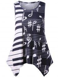 Plus Size Music Notes Tunic Tank Top -