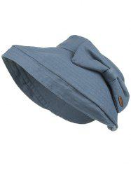 Anti UV Open Top Bowknot Sunscreen Hat -