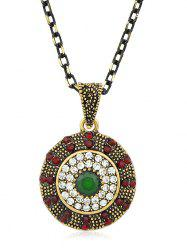 Rhinestone Chain Pendant Necklace -