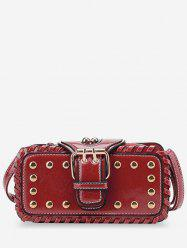 Stud Buckle Closure Crossbody Bag -