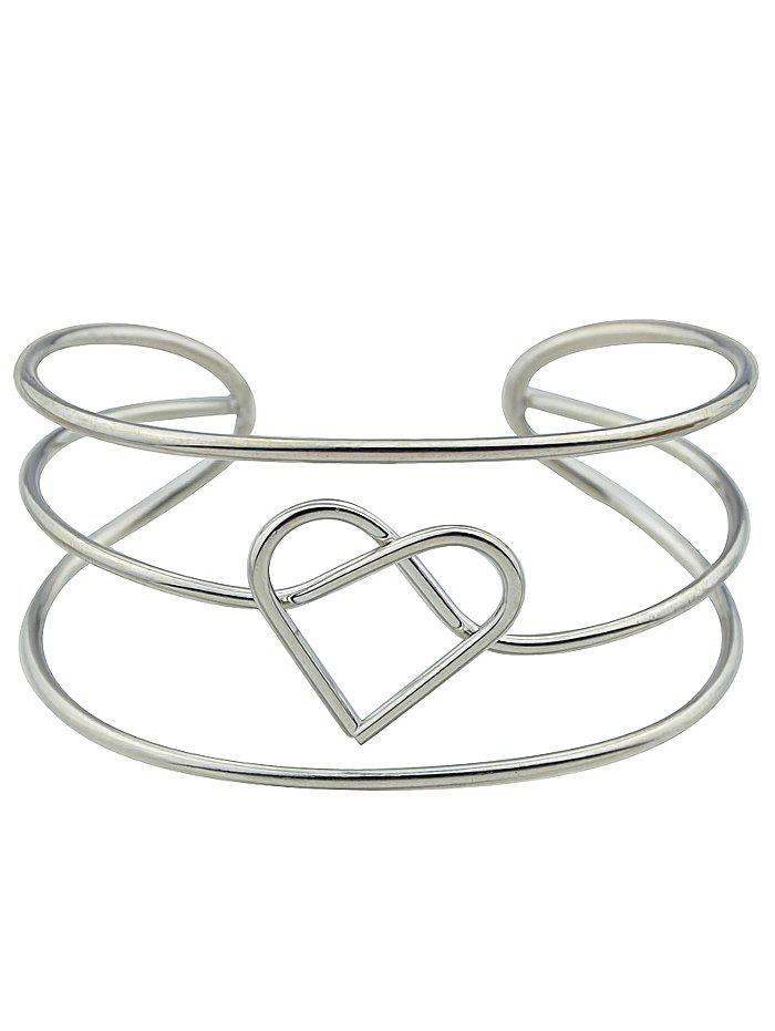 Store Hollow Out Heart Cuff Bracelet