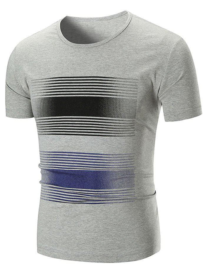 Shop Stripe Print Short Sleeve T-shirt