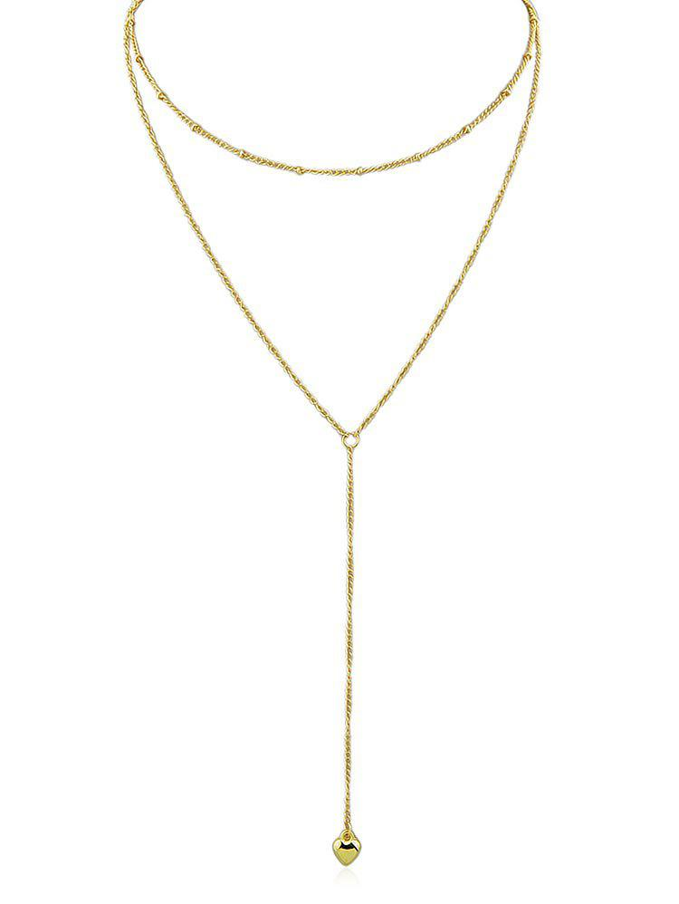 Discount Double Layered Chain Pendant Necklace