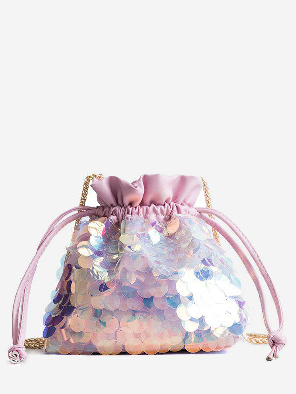 Store Fish Scale Sequins Bucket Bag