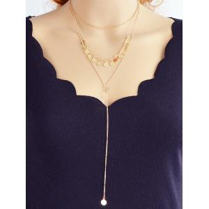 Sequin Multilayered Chain Necklace -