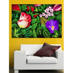 Jungle Flowers Print Wall Sticker for Bedrooms -