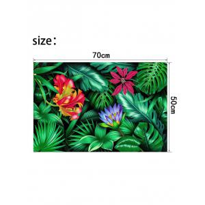 Tropical Jungle Print Wall Sticker for Bedrooms -
