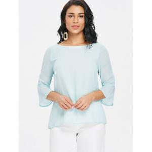 Low Back Chiffon Blouse with Bowknot -