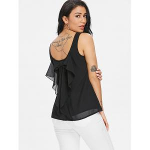 Low Back Tank Top with Bowknot -