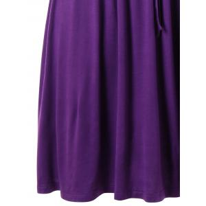 Drawstring Waist Plus Size Nursing Dress -