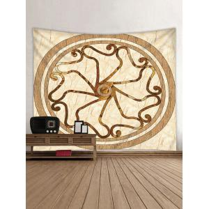 Round Marble Print Wall Tapestry -