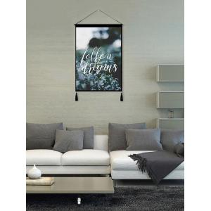 Plant Printed Tassel Wall Hanging Painting -