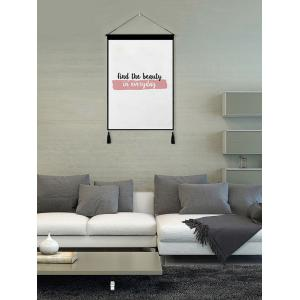 Find Beauty Printed Tassel Wall Hanging Painting -