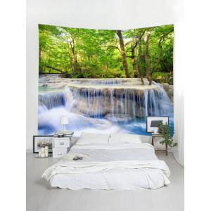 Forest Trees Stream Print Wall Hanging Tapestry -